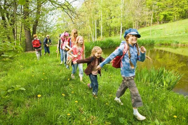 Wandergruppe Kinder KiEZ-SachsenFoto Danny Otto Landesverband KiEZ Sachsen