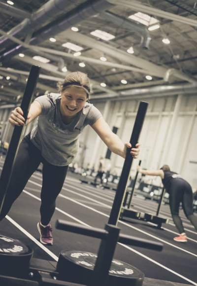 "Workout ""Sled Push"" / Foto: Tom Schlegel"