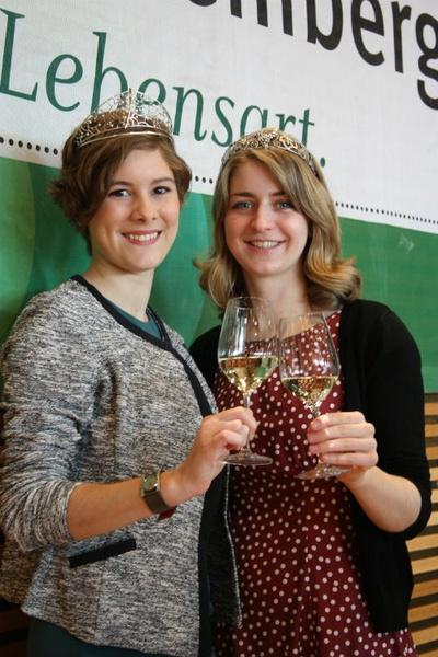 Stefanie Schwarz aus Württemberg (rechts) und Josefine Schlumberger aus Baden