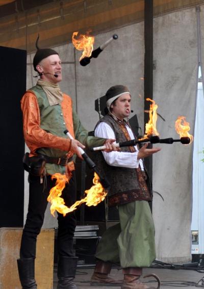 """Gaukler-Duo """"Forzarella"""" © Projektzentrum Dresden"""