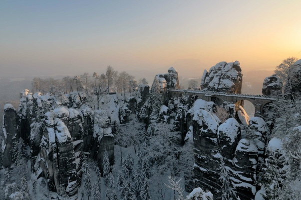 Basteibruecke im Winter - Foto Frank Exss