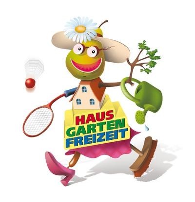 Maskottchen der HAUS-GARTEN-FREIZEIT© Leipziger Messe GmbH