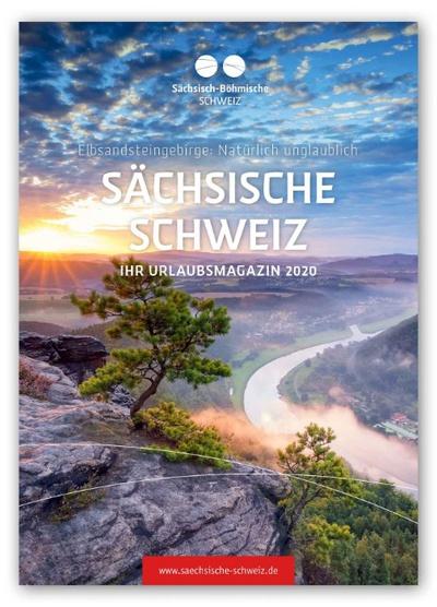 Titelseite Urlaubsmagazin Sächsische Schweiz 2020