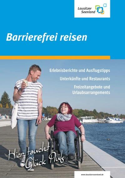 """Titelseite """"Lausitzer Seenland – barrierefrei reisen"""""""