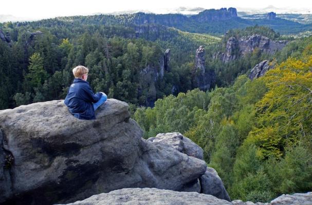Blick in die Landschaft - Elbsandsteingebirge - Foto: Yvonne Brueckner