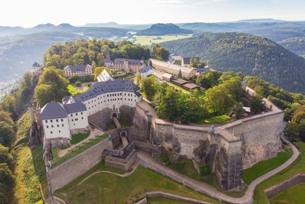 Die Festung Königstein von oben, Foto: Frank Lochau/Procopter
