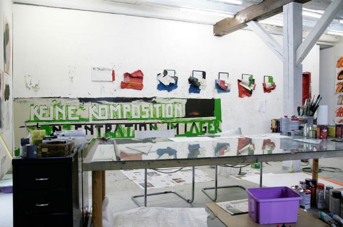 Ateliersituation, Foto: Christian Sery