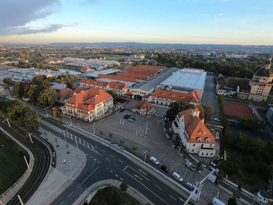 MESSE DRESDEN, Blick Richtung Elbe © MESSE DRESDEN