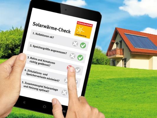 Solarwärme-Check © vzbv