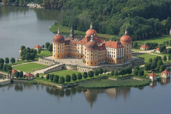 Luftaufnahme Schloss Moritzburg / © Schlösserland Sachsen