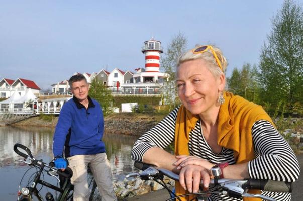Radfahrer am Geierswalder See - Foto Tourismusverband Lausitzer Seenland - Nada Quenzel