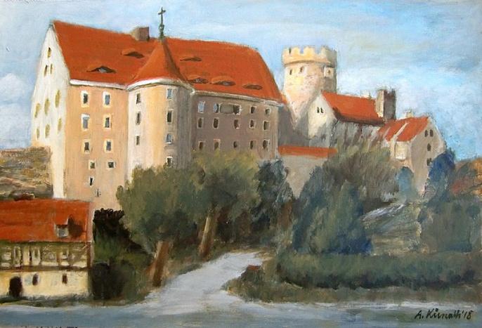 Ansicht Burg Gnandstein | Maler & Grafiker Andreas Kunath