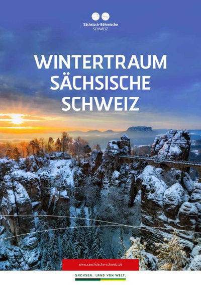 """Titelseite Broschüre """"WintertraumSächsische Schweiz"""""""