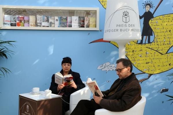 Leseecke zum Preis der Leipziger Buchmesse in der Glashalle. Foto: Leipziger Messe GmbH / Uli Koch