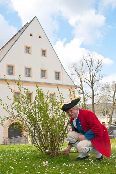 Ostereier suchen mit Schließkapitän Clemens, Foto: Festung Königstein gGmbH