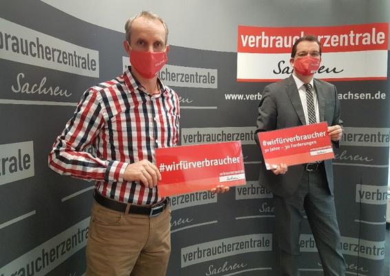 Michael Hummel (l.) und Andreas Eichhorst (r.) © Verbraucherzentrale Sachsen e. V.