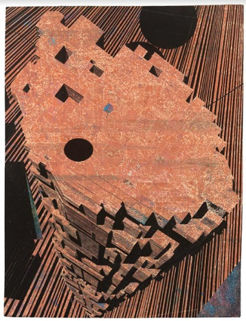 Frank Lippold, Riff, 2016, Relief in bemaltem Sperrholz, Lackfarbe, Besitz des Künstlers / Foto: Michael Belogour