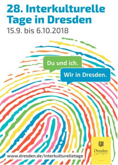Plakat Interkulturelle Tage 2018 © Landeshauptstadt Dresden