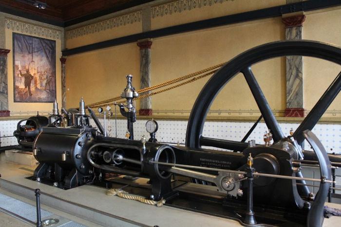 Liegende Einzylinder-Gegendruck-Dampfmaschine | Foto: Archiv Industriemuseum Chemnitz