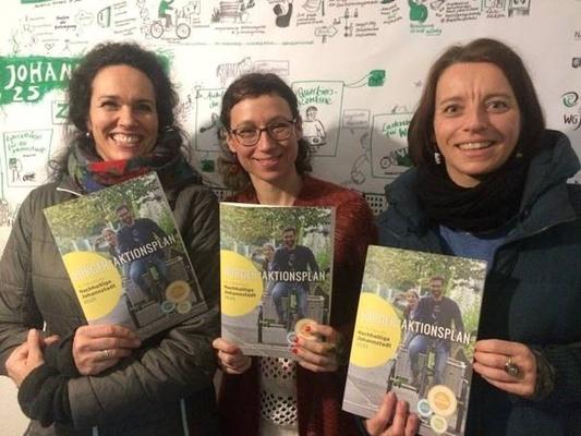 Vorstellung des Bürger*aktionsplans im NaJo2025 Projektbüro / Foto: Esther Heinke