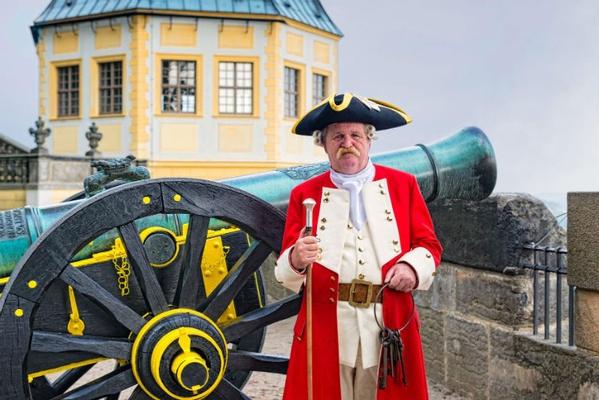Schließkapitän Clemens auf der Festung Königstein - Foto Festung Königstein gGmbH