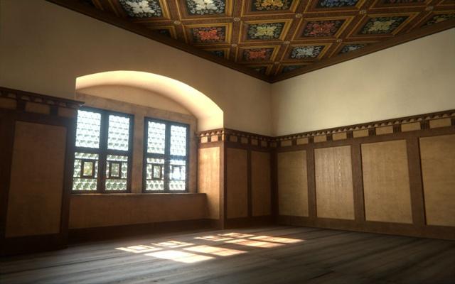 Animation des Raumes zur Renaissance-Zeit