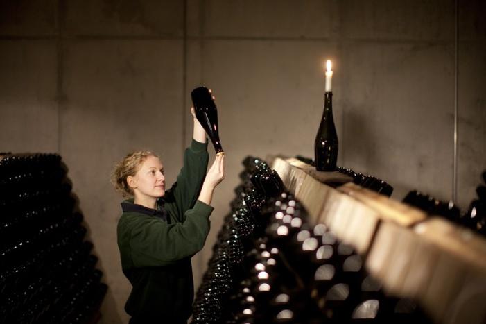Klassische Flaschengährung / © Schloss Wackerbarth