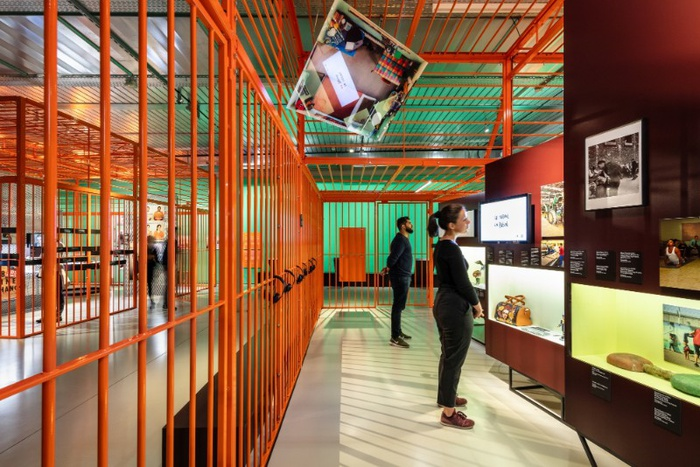 Präsentation der Ausstellung in Genf, 2019 / Foto: Radek Brunecky / Gestaltung: Holzer / Kobler Architekturen (Zürich, Berlin)