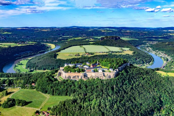Die Festung Königstein, © euroluftbild.de/Martin Elsen