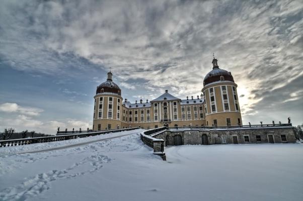 Das zauberhafte Schloss Moritzburg im Winter © www.schloesserland-sachsen.de