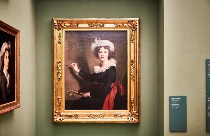 Das Selbstporträt von Louise-Élisabeth Vigée-Lebrun, Foto: Marko Förster