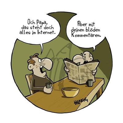 Deutscher Karikaturenpreis 2016: Oli Hilbring - Papa
