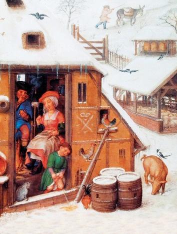 "Titelbild - Monatsbild ""Februar"" des Breviariums Grimani (Brügge, ca. 1510?–?1520) © graphicus2020"
