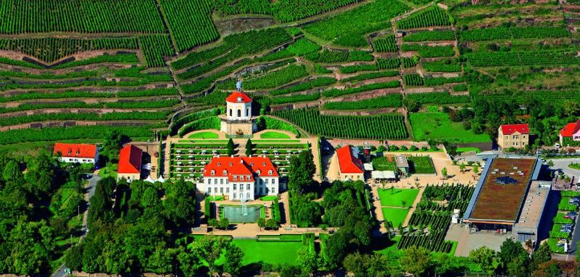 Schloss Wackerbarth Luftbild © Schloss Wackerbarth