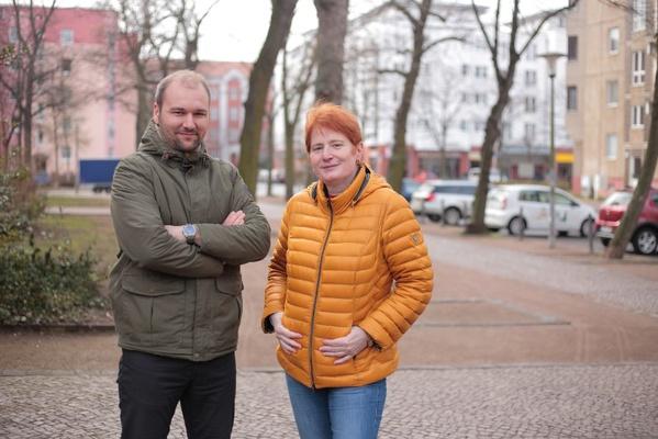 Quartiersteam Leipzig - Florian Thamm und Karin Gründel © VZS
