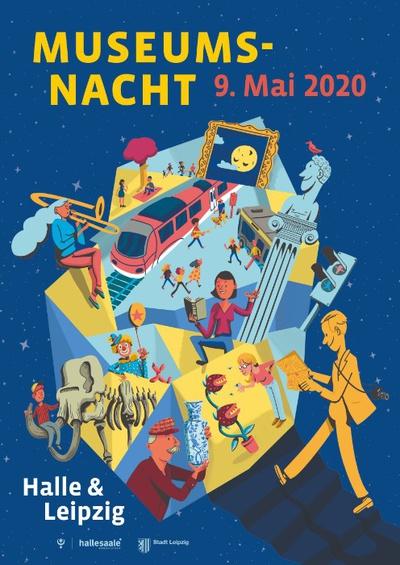Veranstaltungsplakat © Museumsnacht Halle & Leipzig